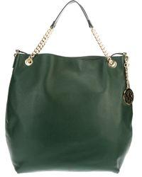 7a89d8de3e41 Lyst - MICHAEL Michael Kors Bedford Large Shoulder Bag in Green