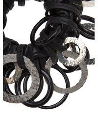 Monies | Black Leather Bracelet | Lyst