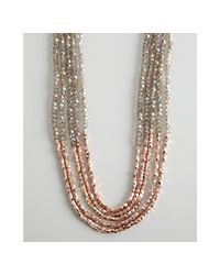 Nakamol | Multicolor Rose Gold and Grey Multi Strand Beaded Necklace | Lyst