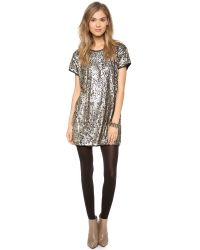 One Teaspoon - Metallic Lucky Star T Dress - Lyst