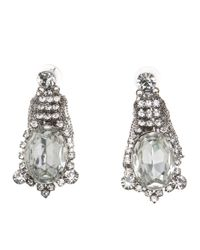 Tom Binns | Red Co Vert Rhodium and Silverplated Swarovski Crystal Earrings | Lyst