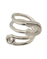 Tom Binns | Metallic Twisted Safety Pin Ring | Lyst