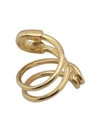 Tom Binns - Metallic Twisted Safety Pin Ring - Lyst
