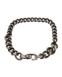 Werkstatt:münchen - Metallic Curb Chain Bracelet for Men - Lyst