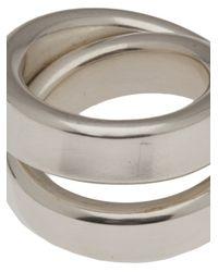 Werkstatt:münchen - Metallic Double Loop Ring for Men - Lyst