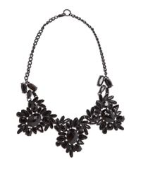 Mango - Black Faceted Crystal Necklace - Lyst