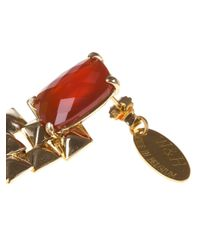 Wouters & Hendrix - Red Studded Drop Earrings - Lyst