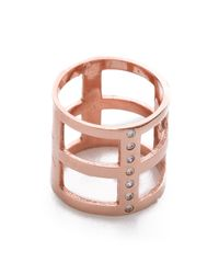 Campbell - Pink Geometric Ring - Rose Gold - Lyst