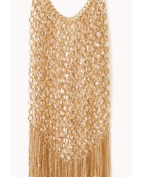 Forever 21 - Metallic Luxe Fringe Bib Necklace - Lyst