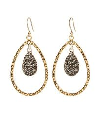 Lucky Brand | Metallic Triangle Chain Drop Earrings | Lyst