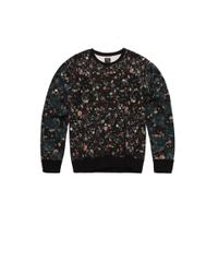 McQ - Gray Micro Floral Logo Sweater for Men - Lyst