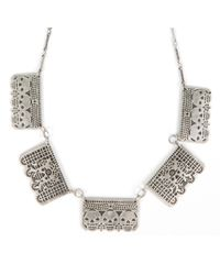 Pamela Love | Metallic Day Of The Dead Skull Necklace | Lyst