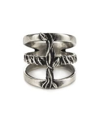 Pamela Love | Metallic Vine Cross Ring | Lyst