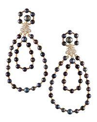 Slane - Bee Free Black Pearl Drop Earrings - Lyst