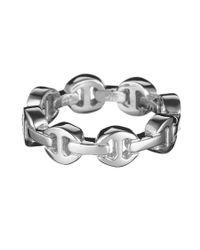 Hoorsenbuhs | Metallic Silver Dame Trilink Ring | Lyst