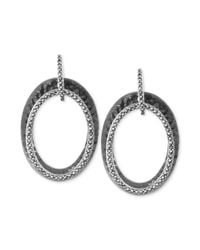 Judith Jack | Metallic Sterling Silver Marcasite Double Oval Drop Earrings (1-1/3 ct. t.w.) | Lyst