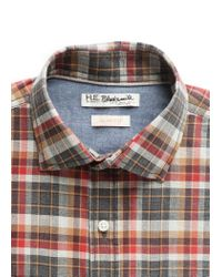 Mango | Red Slimfit Check Shirt for Men | Lyst