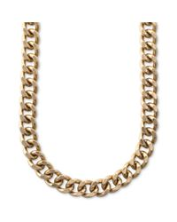 RACHEL Rachel Roy | Metallic Necklace Antique Goldtone Curb Chain Collar Necklace | Lyst
