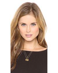 Sarah Chloe | Metallic Eva Engraved Pendant Necklace - N | Lyst