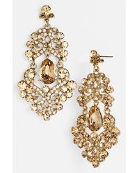 Tasha | Gray Ornate Chandelier Earrings | Lyst