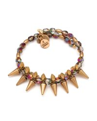 ALEX AND ANI - Brown Vintage 66 Rock Raw Prism Wrap Bracelet - Lyst