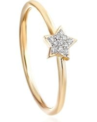 Astley Clarke | Metallic Super Stars Yellow-gold And Diamond Star Ring | Lyst