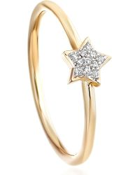 Astley Clarke | Metallic A Little Light 14ct Gold Diamond Ring | Lyst