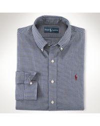 Polo Ralph Lauren - Blue Plaid Cotton Oxford Shirt for Men - Lyst
