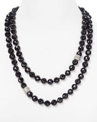 Carolee | Eastern Opulence Long Black Bead Necklace 52 | Lyst