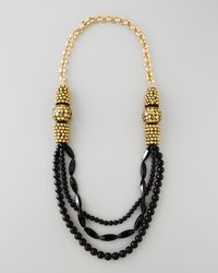 Devon Leigh | Black Onyx Multi-strand Necklace | Lyst