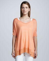 Eileen Fisher - Orange Silk Tussah Box Top - Lyst