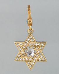 Jay Strongwater | Metallic Star Of David Charm | Lyst