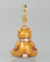 Jay Strongwater | Metallic Teddy Bear With Heart Charm | Lyst