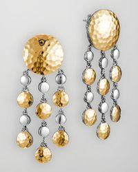 John Hardy | Metallic Palu Goldsilver Chandelier Earrings | Lyst