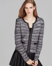 Joie - Gray Jacket Jacolyn Tweed - Lyst