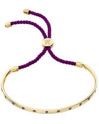 Monica Vinader - Metallic Fiji 18ct Violet Gold-vermeil Friendship Bracelet - Lyst