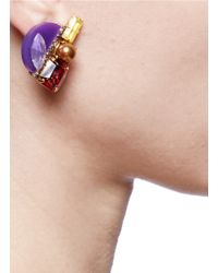 Erickson Beamon | Purple 'electric Avenue' Crystal Embellished Earrings | Lyst