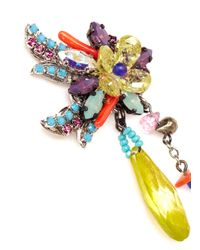 Erickson Beamon | Multicolor 'we've Got The Power' Flower Spike Earrings | Lyst