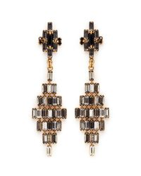 Erickson Beamon | Metallic 'xenon' Crystal Rhombus Earrings | Lyst