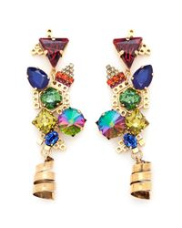 Erickson Beamon | Multicolor 'electric Avenue' Swirl Drop Earrings | Lyst