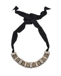 Lanvin - Gray Marie Laure Crystal Embellished Necklace - Lyst