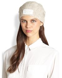 Marc By Marc Jacobs - Natural Chunky Cable Knit Hat - Lyst