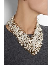 Rosantica - White Osiris Golddipped Pearl Necklace - Lyst