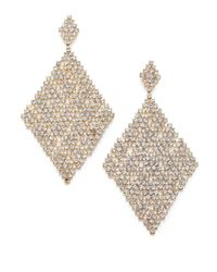 ABS By Allen Schwartz | Metallic Faceted Mesh Drop Earrings | Lyst