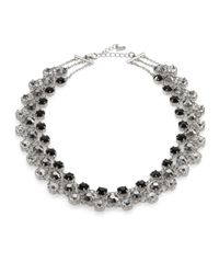 ABS By Allen Schwartz | Metallic Faceted Triple-row Necklace | Lyst