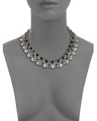 ABS By Allen Schwartz | Metallic Faceted Triple-row Necklace | Lyst