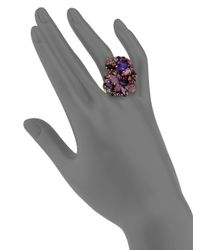 Aerin Erickson Beamon - Purple Faceted Cluster Ring - Lyst