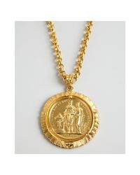 Ben-Amun   Metallic Gold Chain and Large Coin Necklace   Lyst