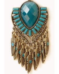 Forever 21 - Blue Boho Dreamcatcher Necklace - Lyst