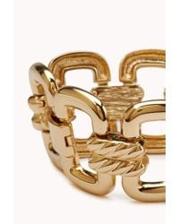 Forever 21 - Metallic Cutout Craze Link Bracelet - Lyst